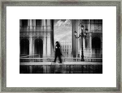 Dry Footed Walk Framed Print
