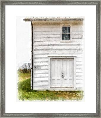 Dry House Canterburry Shaker Villiage Watercolor Framed Print by Edward Fielding
