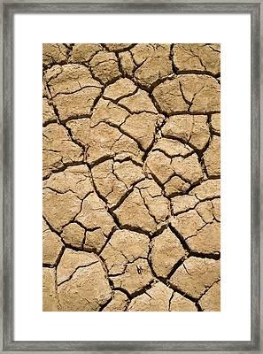 Dry Irrigation Pond, Strzelecki Track Framed Print by David Wall