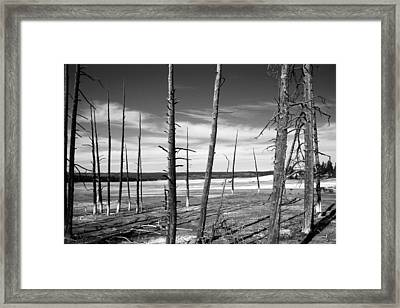 Dry Lake Bed Framed Print