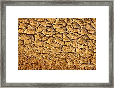 Dry Land Art Framed Print by Boon Mee