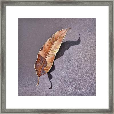 Dry Leaf Framed Print by Elena Kolotusha