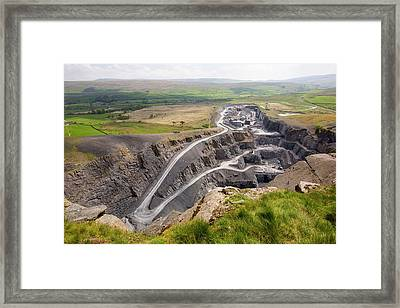 Dry Rigg Quarry At Helwith Bridge Framed Print by Ashley Cooper