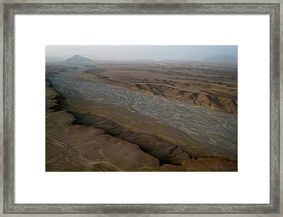 Dry River Bed In Helmand Province Afghanistan Framed Print by Jetson Nguyen