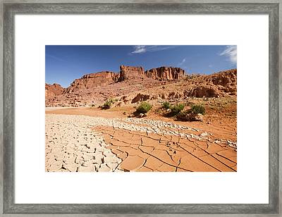 Dry Riverbed Framed Print by Ashley Cooper