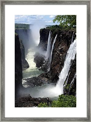 Dry Season At Victoria Falls Framed Print by Aidan Moran