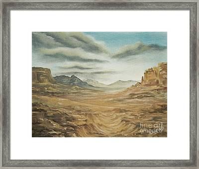 Dry Storm Framed Print by Cathy Cleveland