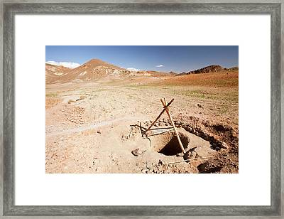 Dry Well Framed Print by Ashley Cooper