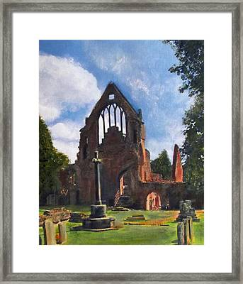 A Space To Cherish Dryburgh Abbey  Framed Print by Richard James Digance