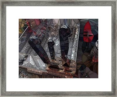 Drying Knives Framed Print by Ron Bissett