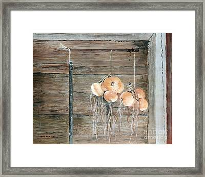 Drying Time Framed Print by Monte Toon