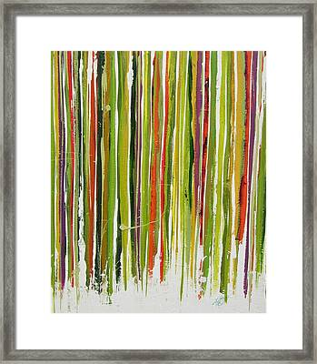 Framed Print featuring the painting D.s. Color Band Skinny by Kathy Sheeran