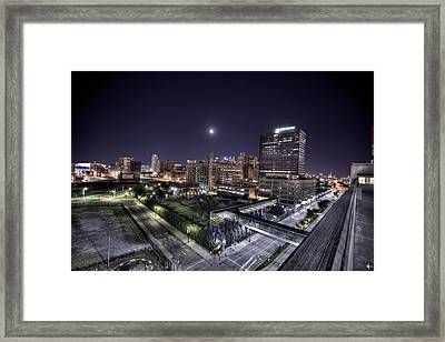 Dte In Detroit Framed Print by Nicholas  Grunas