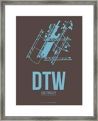 Dtw Detroit Airport Poster 1 Framed Print by Naxart Studio