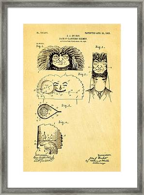 Du Ket Halloween Helmet Patent Art 1903 Framed Print by Ian Monk