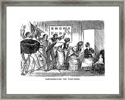 Du Maurier Cartoon, 1876 Framed Print