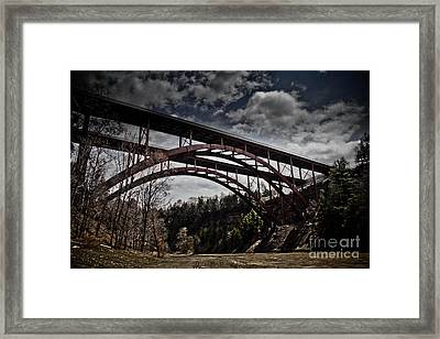 Framed Print featuring the photograph Dual Arched Bridge by Jim Lepard