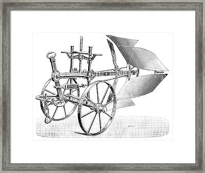 Dual-brabant Plough Framed Print by Science Photo Library