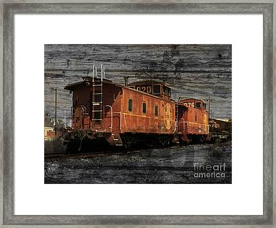 Dual Cabooses Framed Print by Robert Ball