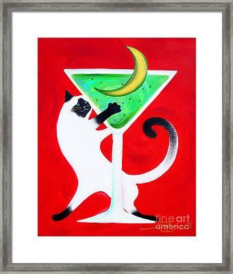 Moon Martini Framed Print by Gem S Visionary