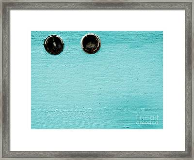 Dual Orbit Framed Print by Lin Haring