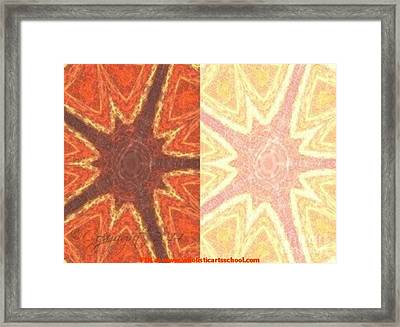 Dual Personality Framed Print