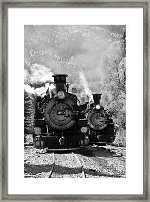 Dual Steam Engines Framed Print