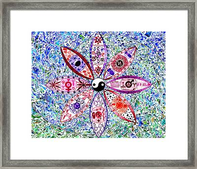 Dualing Eyepposites Framed Print by Dave Migliore