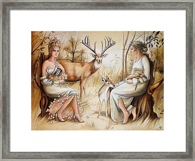 Duality Of The Matriarch Framed Print by Jacque Hudson