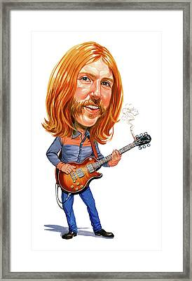 Duane Allman Framed Print by Art