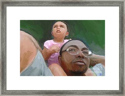 Framed Print featuring the painting Duane by Vannetta Ferguson