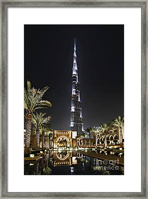 Dubai At Night Framed Print by Lars Ruecker