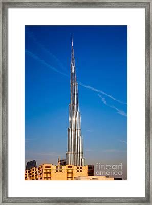 Dubai Burj Khalifa  Framed Print