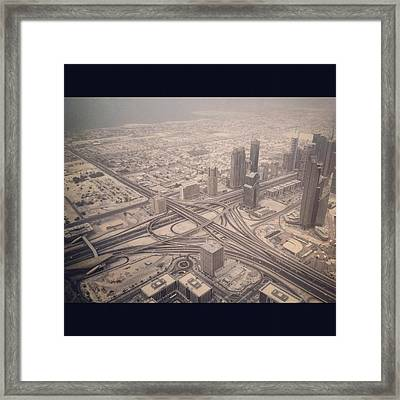 Dubai Citylife Framed Print by Maeve O Connell