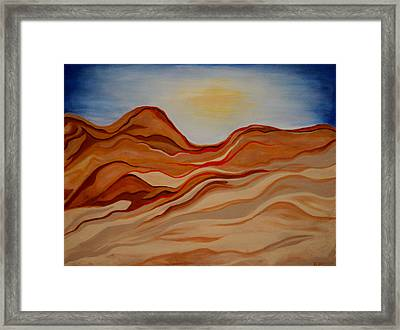 Dubai Desert Framed Print by Kathy Peltomaa Lewis