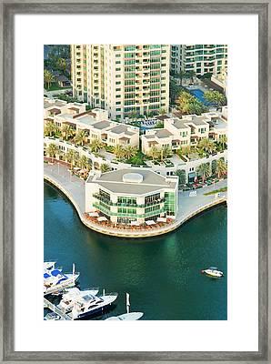 Dubai Marina, Dubai, United Arab Framed Print by Nico Tondini