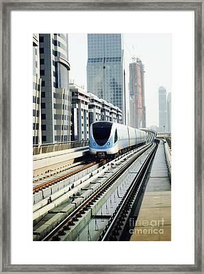 Dubai Metro Framed Print by Jelena Jovanovic