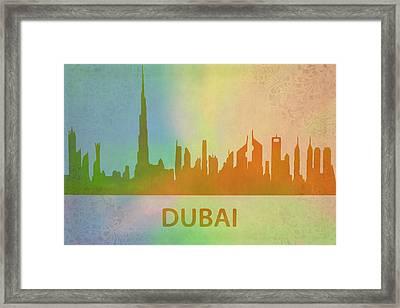 Dubai Skyline Framed Print by Dan Sproul