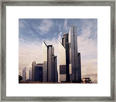 Dubai Skyline Framed Print by Jelena Jovanovic