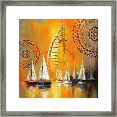 Dubai Symbolism Framed Print by Corporate Art Task Force