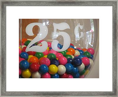 Dubble Bubble Framed Print by Loretta Pokorny