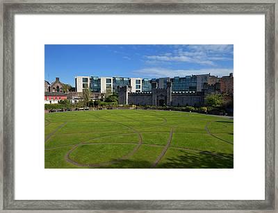 Dubh Linn Gardens Behoind Dublin Framed Print by Panoramic Images