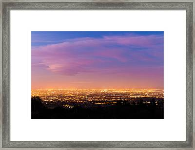 Dublin City At Blue Hour Framed Print by Semmick Photo