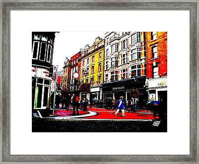 Framed Print featuring the photograph Dublin City Vibe by Charlie and Norma Brock