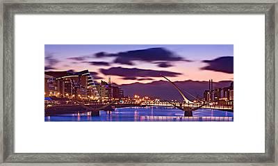 Framed Print featuring the photograph Dublin Docklands At Dawn / Dublin by Barry O Carroll