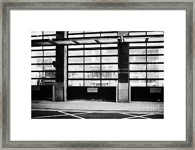 Dublin Fire Brigade Fire Station With Doors Closed At Night Republic Of Ireland Framed Print by Joe Fox
