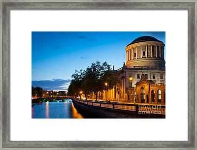 Dublin Four Courts Framed Print by Inge Johnsson