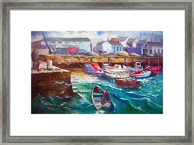 Framed Print featuring the painting Dublin Ireland Bullock Harbour by Paul Weerasekera