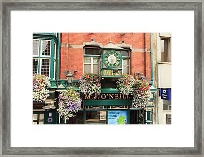 Dublin, Ireland Downtown Framed Print by Tom Norring