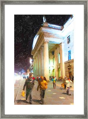 Dublin Ireland Post Office At Night Framed Print by Mark E Tisdale